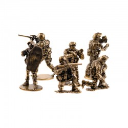 Set of Soldiers, Vympel Antiterrorism Security Team (6 items, 1:35), bronze