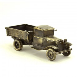 Scale model of the Russian army truck GAZ-AA Military Truck Model (1:35), bronze
