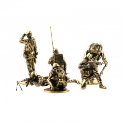 Set of Soldiers, Soviet Paratroopers in Afghanistan (6 items, 1:35), bronze
