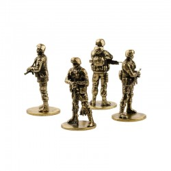 Set of Soldiers, Polite Army (4 items, 1:35), bronze