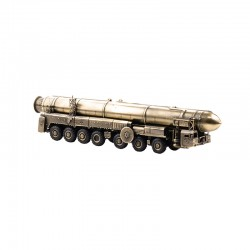Scale model of the Russian Strategic Rocket Launcher Topol (SS-25 Sickle) (1:72), bronze