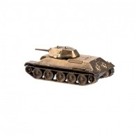 Scale model of the Russian T-34/76 Tank Model (1:100), bronze