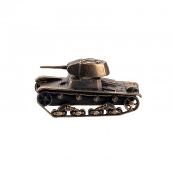 Scale model of the Russian T-26 Tank (1:100), bronze
