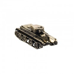 Scale model of the Russian BT-5 Tank Model (1:100), bronze