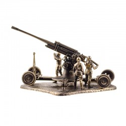 Scale model of the Russian 52-K 85 mm Air Defence Gun (1:72), bronze
