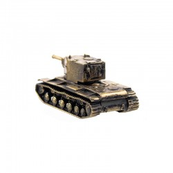 Scale model of the Russian KV-2 Tank (1:100), bronze