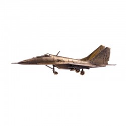 Scale model of the Russian MIG-29 Fighter (1:72), bronze