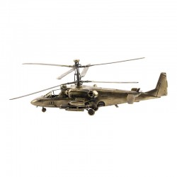 Scale model of the Russian KA-52 Alligator Helicopter (1:72), bronze