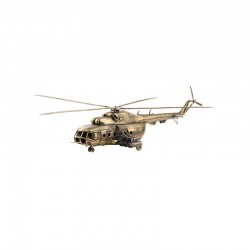 Scale model of the Russian MI-8T Multipurpose Helicopter Model (1:72), bronze