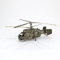 Scale model of the Russian KA-27PS Helicopter (1:72), bronze