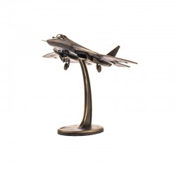 Scale model of the Russian T-50 (SU-50) Fighter (1:72), bronze