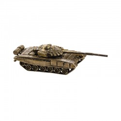 Scale model of the Russian Т-72M1M Tank (1:100), bronze