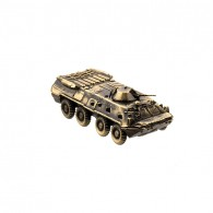 Scale model of the Russian armored personnel carrier BTR-80 - Armored Fighting Vehicle Model (1:100), bronze