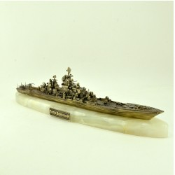Scale model of the Russian Guided-missile Cruiser Pyotr Velikiy (1:700), bronze