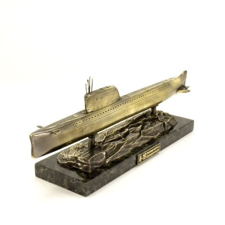 Scale model of the Russian Submarine K-19 Scaled (1:350), bronze