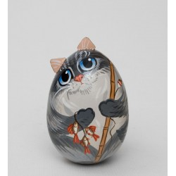 "Lacquer Box-egg ""Cat"""