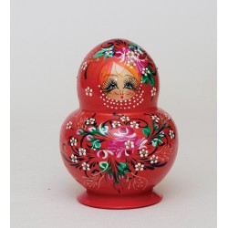 """Nastenka"" Set of 10 Miniature Nesting Dolls"