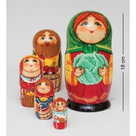 """Family"" Set of 5 Miniature Nesting Dolls"