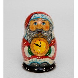 """Father Frost"" Set of 3 Miniature Nesting Dolls"