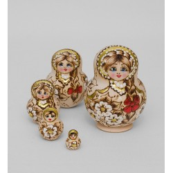 """Grunya"" Set of 5 Miniature Nesting Dolls"