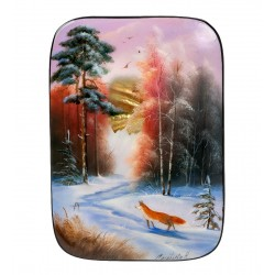 """Russian Painted Box Fedoskino """"Forest"""""""