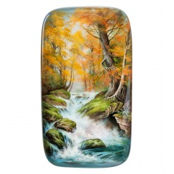 "Russian Painted Box Fedoskino ""Waterfall"""