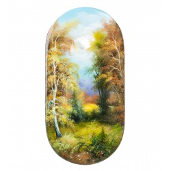 "Russian Painted Box Fedoskino ""Autumn"""