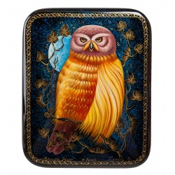 Russian Painted Box Holuy '' Night Watch '' pryamoug. sones