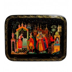 "Russian Painted Box Palekh ""Divination"""