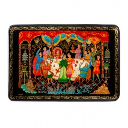 Palekh Russian Painted Box '' Frog Princess' App. Serov