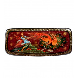 Russian Painted Box Holuy '' Firebird 'Mukhin 13,5h5,5