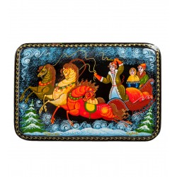 "Palekh Russian Painted Box ""Troika"" Serov"