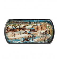 Russian Painted Box Fedoskino '' To evening ''