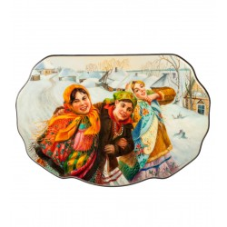 Russian Painted Box Fedoskino '' Girlfriend ''