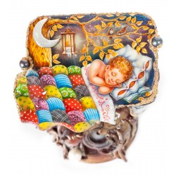 "Russian Painted Box Fedoskino ""Lullaby"""