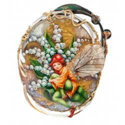 "Fedoskino Russian Painted Box ""Moth"" author. Shenshin"