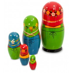 """Marusya"" Set of 5 Miniature Nesting Dolls"