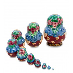 """Elizabeth"" Set of 10 Miniature Nesting Dolls"