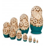 """Dariana"" Set of 10 Miniature Nesting Dolls"