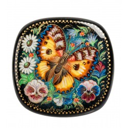 "Holuy Russian Painted Box ""Summer"" 7.5 h7,5"