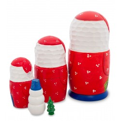"""Father Frost"" Set of 5 Miniature Nesting Dolls B"