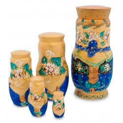 """Dobrava"" Set of 5 Miniature Nesting Dolls"