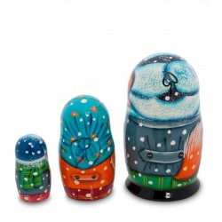 """Fairy Tale"" Set of 3 Miniature Nesting Dolls L"