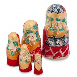 """Antonina"" Set of 5 Miniature Nesting Dolls"
