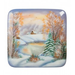 Fedoskino Russian Painted Box '' Winter '' the artist Ageev