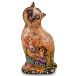 Kitty Carved Figurine, Art Painting