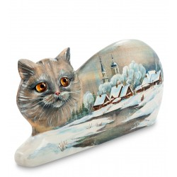 Cat Carved Figurine, Art Painting