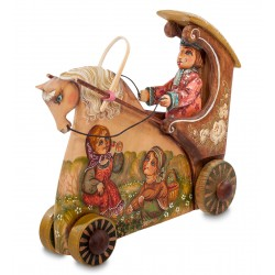 Carriage Carved Figurine, Art Painting