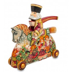Nutcracker on Horseback Carved Figurine, Art Painting