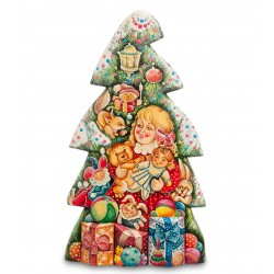 Christmas Tree Carved Figurine, Art Painting